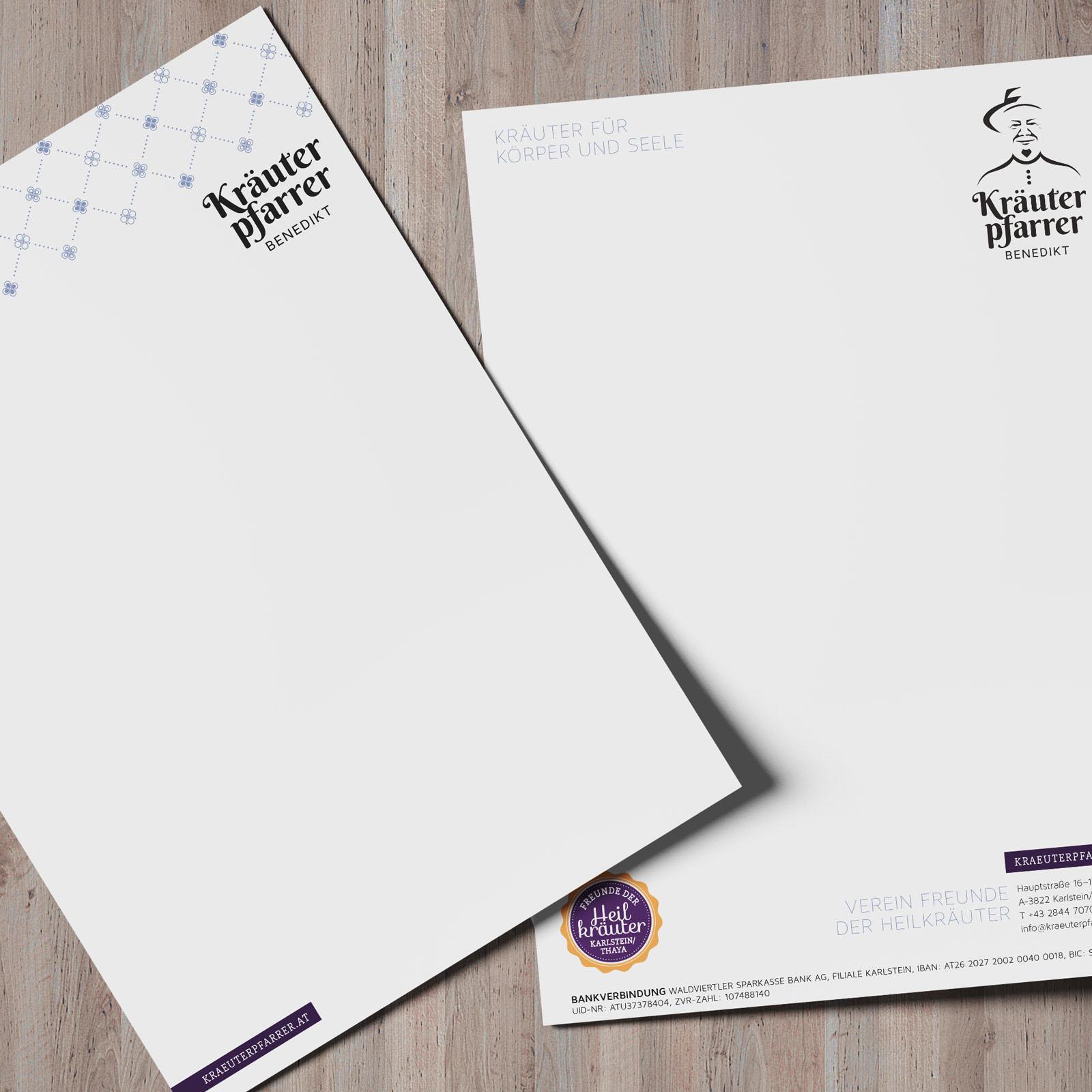 Briefbogen für Korrespondenzen